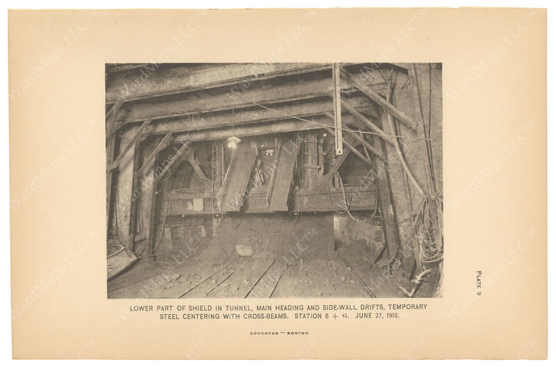 BTC Annual Report 16, 1910 Plate 09: Beacon Hill Tunnel, Lower Part of Shield