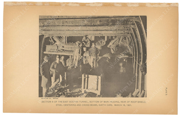 BTC Annual Report 07, 1901 Plate 09: East Boston Tunnel, Main Heading