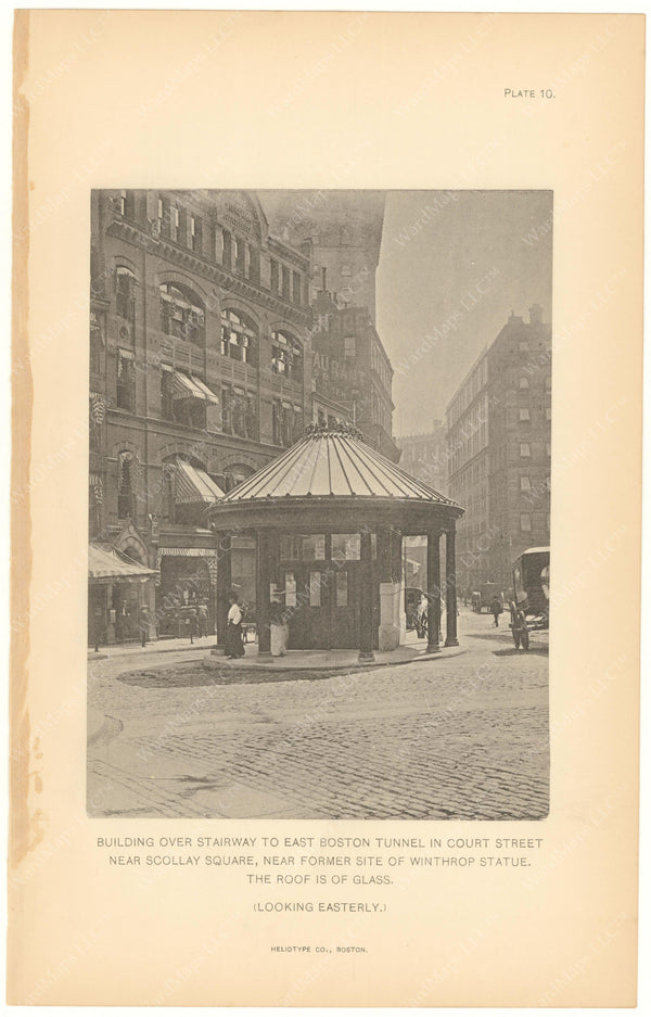 BTC Annual Report 10, 1904 Plate 10: Court Street Station Head House