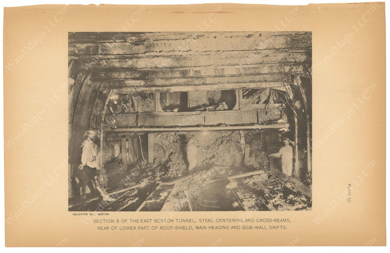 BTC Annual Report 07, 1901 Plate 10: East Boston Tunnel Excavation