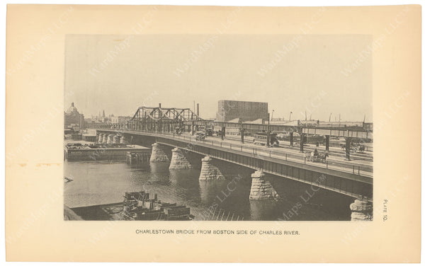 BTC Annual Report 06, 1900 Plate 10: Charlestown Bridge from Boston Side