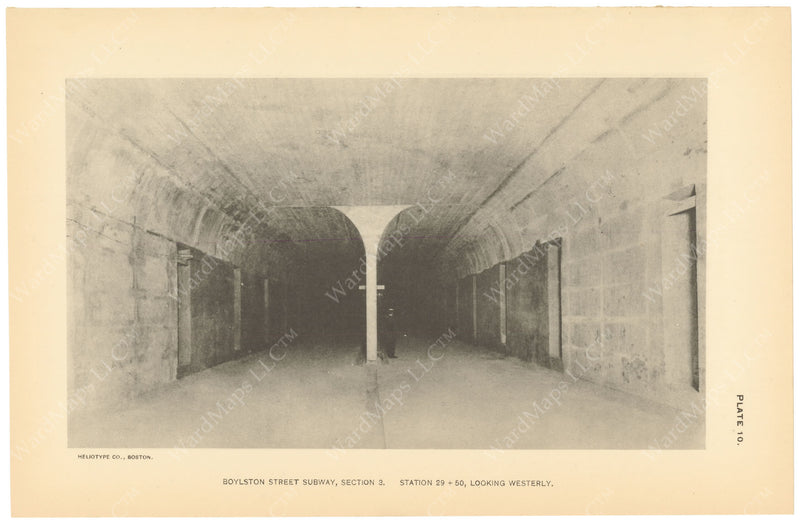 BTC Annual Report 19, 1913 Plate 10: Boylston Street Subway, View West