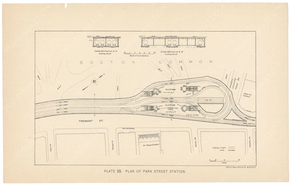 BTC Annual Report 04, 1898 Plate 10: Plan of Park Street Station