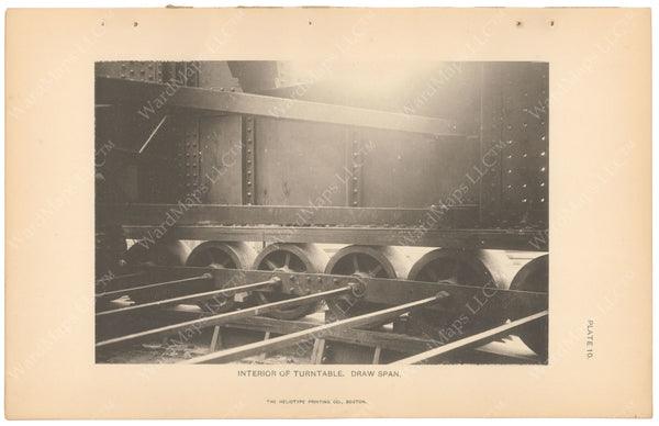 BTC Annual Report 05, 1899 Plate 10: Charlestown Bridge, Turntable Interior