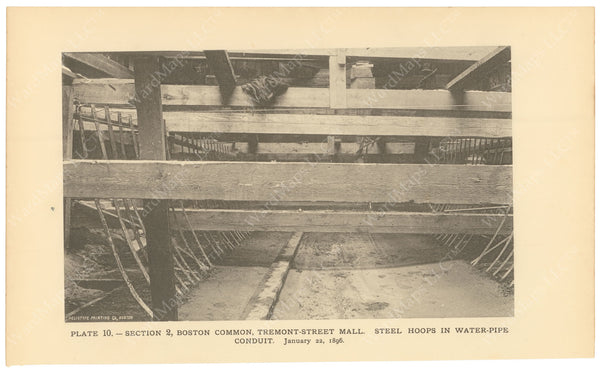 BTC Annual Report 02, 1896 Plate 10: Water Pipe Conduit