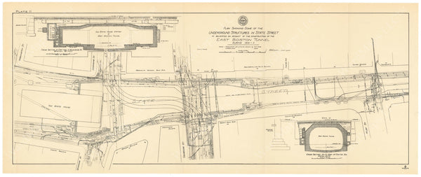 BTC Annual Report 09, 1903 Plate 11: East Boston Tunnel at State Street