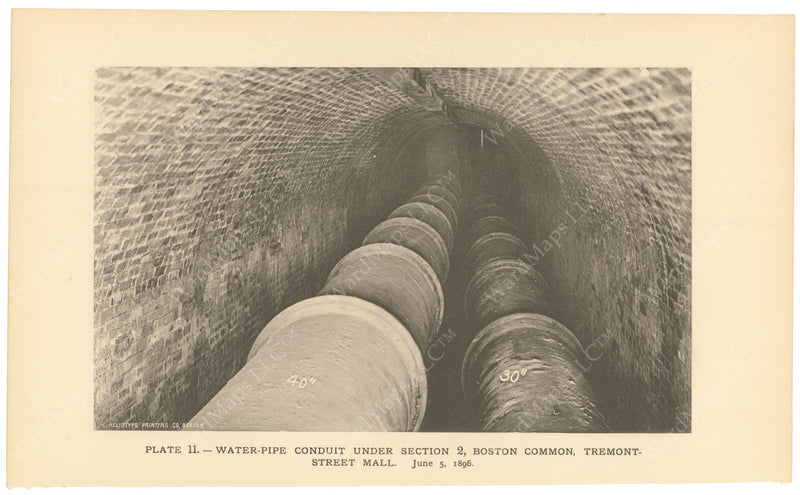 BTC Annual Report 02, 1896 Plate 11: Water Pipe Conduit
