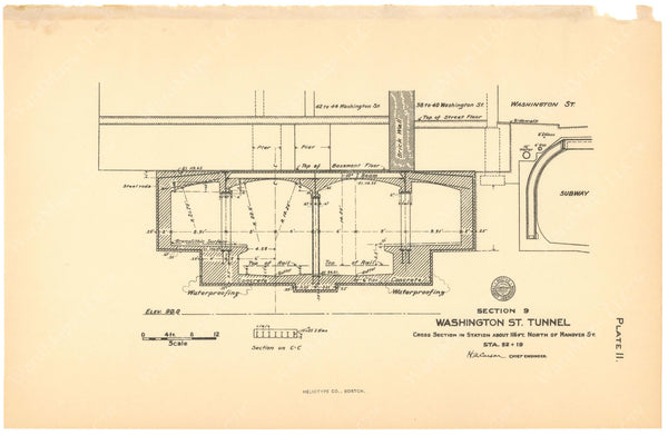 BTC Annual Report 12, 1906 Plate 11: Friend-Union Station Cross Section