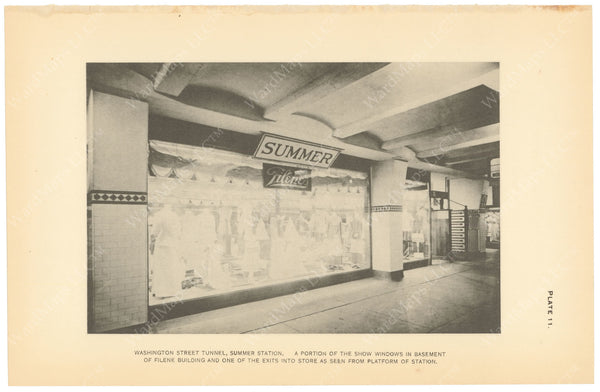 BTC Annual Report 19, 1913 Plate 11: Summer Station Platform, Filene's Window