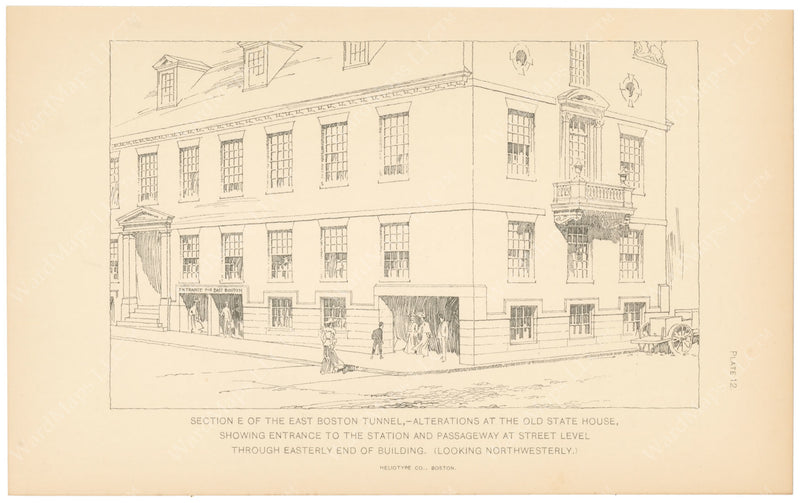 BTC Annual Report 09, 1903 Plate 12: Old State House Alterations