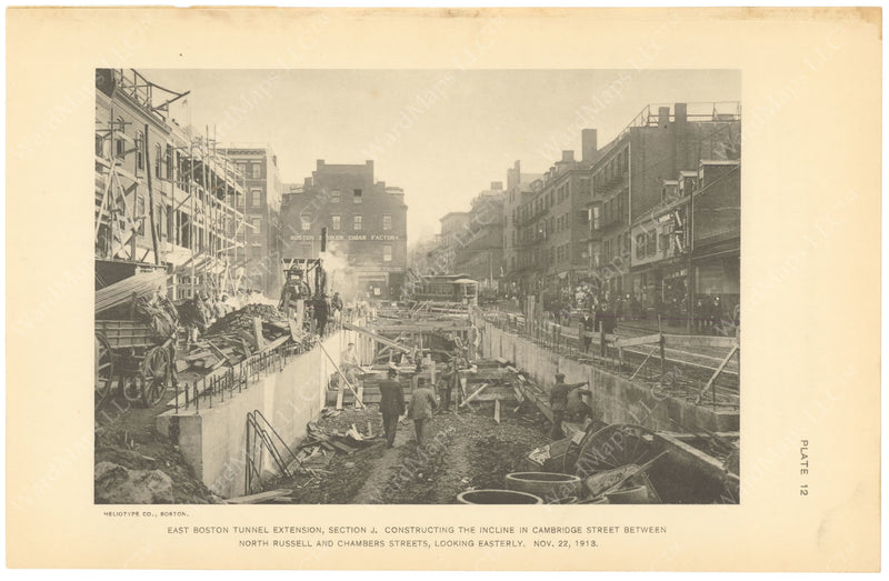 BTC Annual Report 20, 1914 Plate 12: Cambridge Street Incline Construction