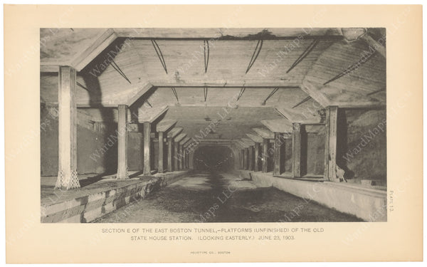 BTC Annual Report 09, 1903 Plate 13: Devonshire Street Station Construction