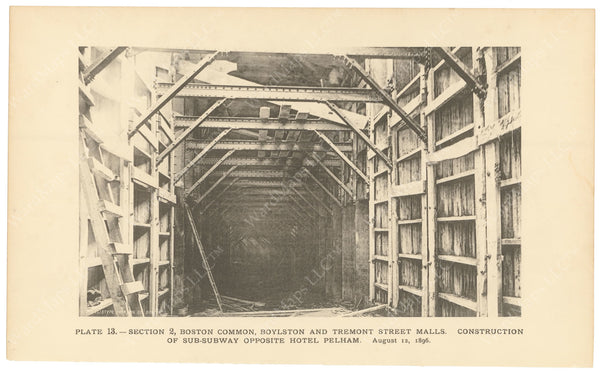 BTC Annual Report 02, 1896 Plate 13: Sub-Subway Construction