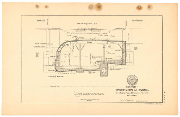 BTC Annual Report 11, 1905 Plate 13: Tunnel Cross Section at Winter Station