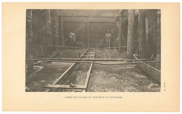 BTC Annual Report 06, 1900 Plate 14: Concrete in Cofferdam