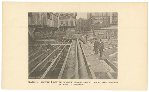 BTC Annual Report 02, 1896 Plate 14: Pipe Crossing in Subway Roof