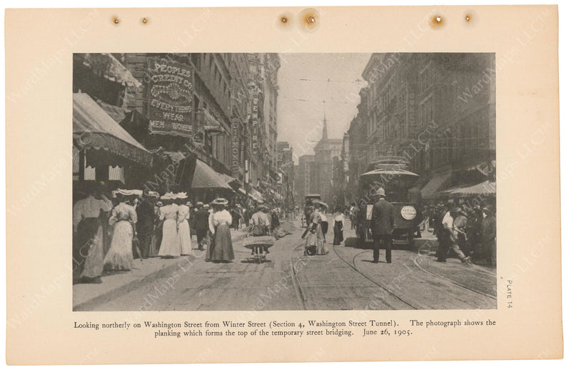 BTC Annual Report 11, 1905 Plate 14: Washington Street Over Tunnel Construction