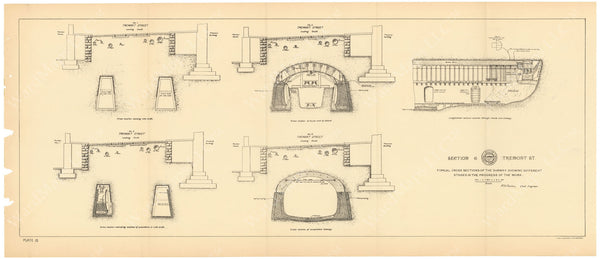 BTC Annual Report 04, 1898 Plate 15: Subway Construction with Roof Shield
