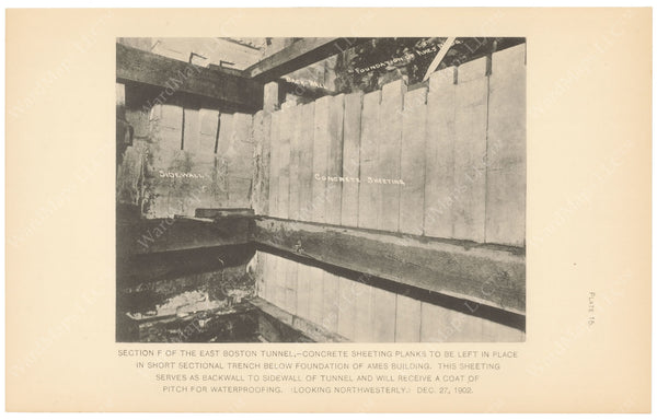 BTC Annual Report 09, 1903 Plate 15: East Boston Tunnel at Ames Building