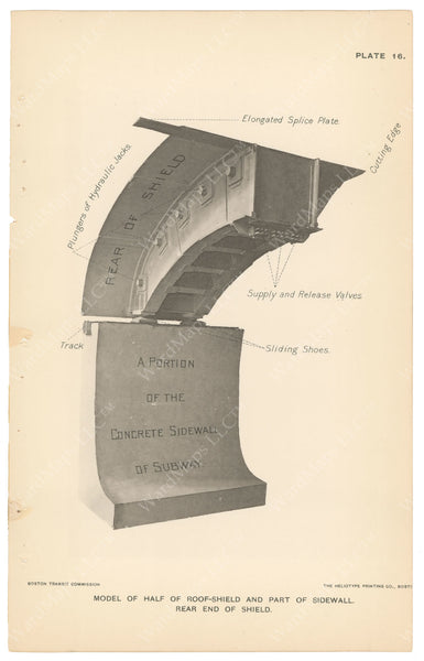 BTC Annual Report 04, 1898 Plate 16: Model of Roof Shield
