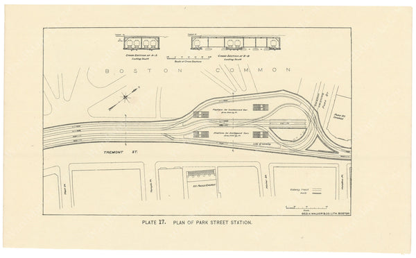 BTC Annual Report 02, 1896 Plate 17: Plan of Park Street Station