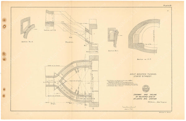 BTC Annual Report 11, 1905 Plate 18: Atlantic Avenue Station Stairs