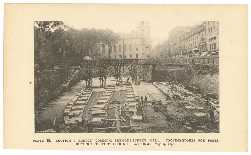 BTC Annual Report 02, 1896 Plate 18: Foundations for Park Street Station