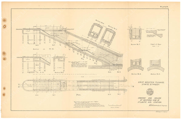 BTC Annual Report 11, 1905 Plate 19: Atlantic Avenue Station Stairs
