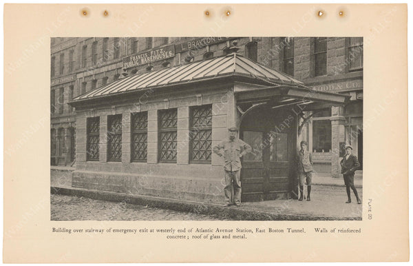 BTC Annual Report 11, 1905 Plate 20: Atlantic Avenue Station, Emerg. Exit Head House