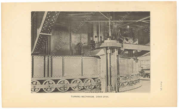 BTC Annual Report 06, 1900 Plate 21: Charlestown Bridge Turning Mechanism