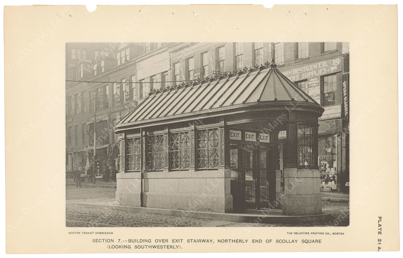 BTC Annual Report 04, 1898 Plate 21A: Scollay Square Station Exit Head House