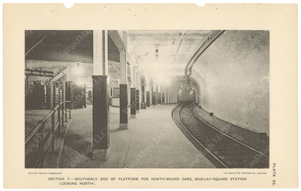 BTC Annual Report 04, 1898 Plate 22: Scollay Square Station Looking North