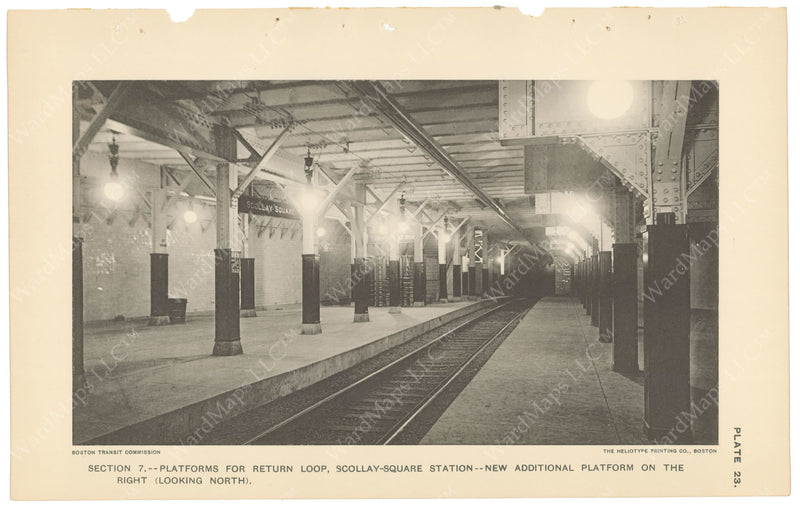 BTC Annual Report 04, 1898 Plate 23: Scollay Square Station