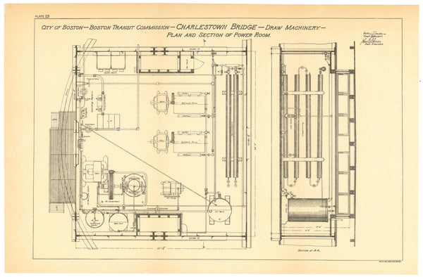 BTC Annual Report 06, 1900 Plate 23: Charlestown Bridge, Power Room