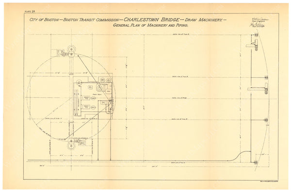 BTC Annual Report 06, 1900 Plate 24: Charlestown Bridge Draw Machinery