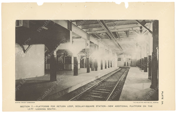 BTC Annual Report 04, 1898 Plate 24: Scollay Square Station, Brattle Street Platform