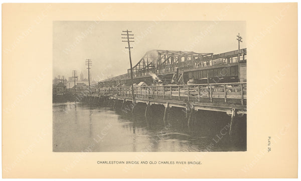 BTC Annual Report 06, 1900 Plate 25: Charles River and Charlestown Bridges