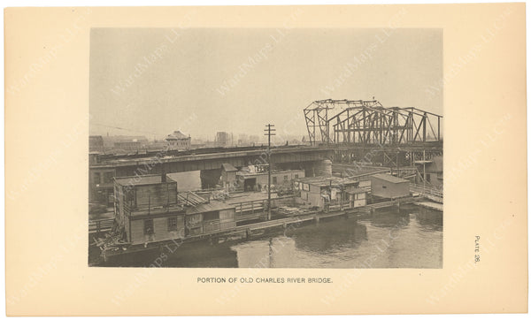 BTC Annual Report 06, 1900 Plate 26: Charles River Bridge in front of Charlestown Bridge