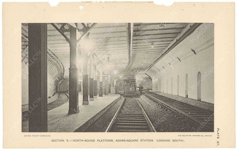 BTC Annual Report 04, 1898 Plate 27: Adams Square Station Looking South