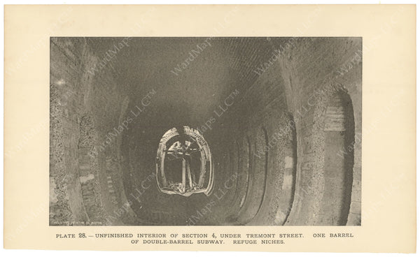 BTC Annual Report 02, 1896 Plate 28: Subway Tube Under Tremont Street
