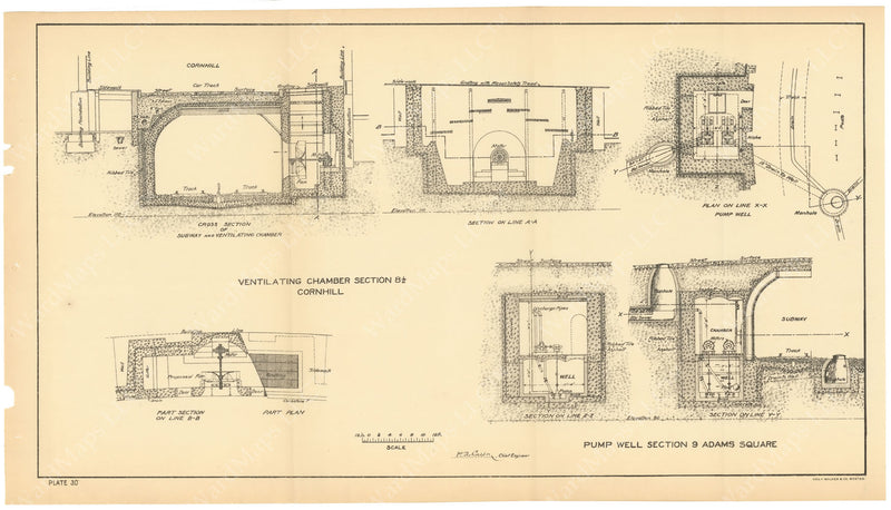 BTC Annual Report 04, 1898 Plate 30: Ventilating Chamber and Pump Well