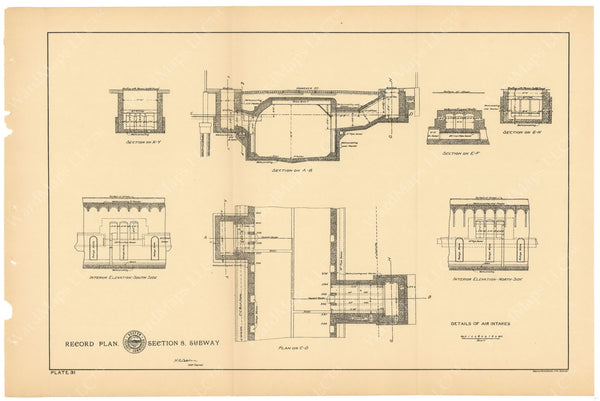 BTC Annual Report 04, 1898 Plate 31: Subway Air Intakes
