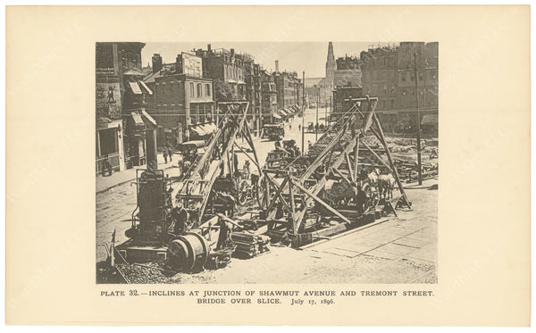 BTC Annual Report 02, 1896 Plate 32: Construction at Pleasant Street Incline
