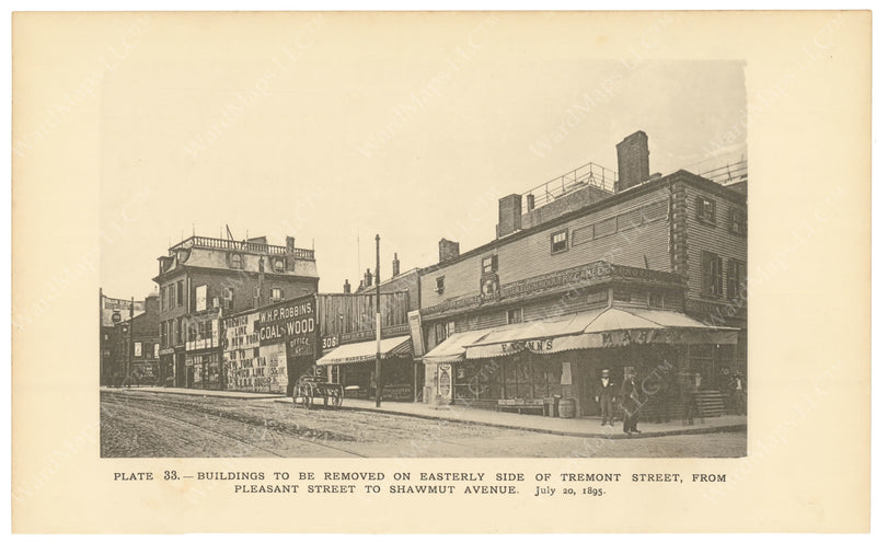 BTC Annual Report 02, 1896 Plate 33: Buildings to be Removed on East Side of Tremont Street