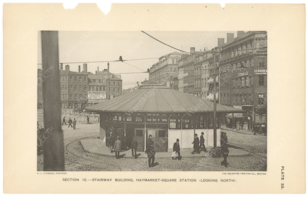 BTC Annual Report 04, 1898 Plate 33: Haymarket Square Station Head House
