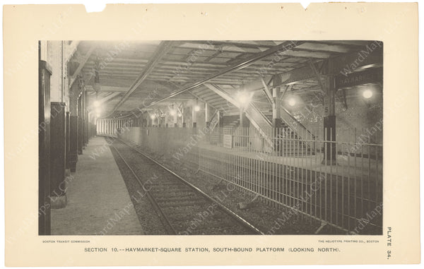 BTC Annual Report 04, 1898 Plate 34: Haymarket Square Station Looking North
