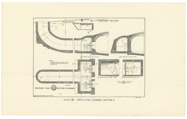 BTC Annual Report 02, 1896 Plate 38: Ventilating Chamber, Section 6