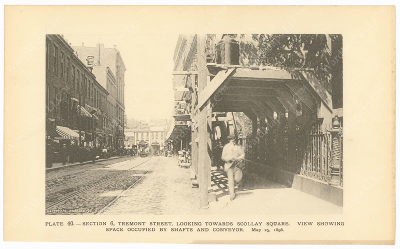 BTC Annual Report 02, 1896 Plate 40: Tremont Street, Looking Towards Scollay Square
