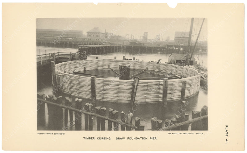 BTC Annual Report 04, 1898 Plate 41: Charlestown Bridge, Timber Curbing