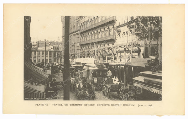 BTC Annual Report 02, 1896 Plate 41: Tremont Street, Opposite Boston Museum